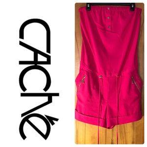 Cache Hot Pink Shorts Romper